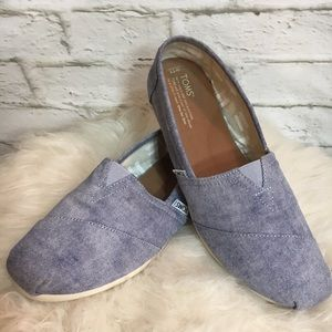 TOMS CLASSIC CHAMBRAY Size 11 Slip On Shoes